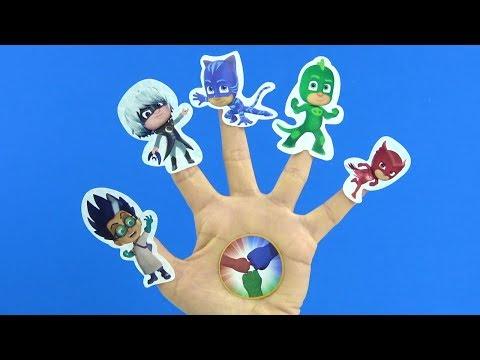 Pijamaskeliler Parmak Ailesi Şarkısı söylüyor PjMasks Finger Family Song Pijamaskeliler Türkçe şarkı