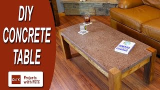 How to Make a Concrete Table - Polished Concrete Top with Recycled Glass