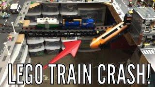 Lego Train Crash On Bridge!