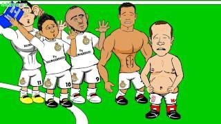 💪🏼RONALDO FIVE GOALS💪🏼Real Madrid vs Granada 9 1 Cartoon Charlie Adam Goal vs Chelsea