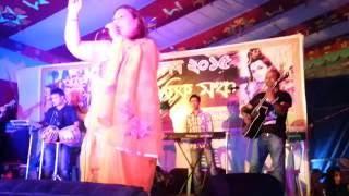 chokhe chokhe eto kotha bolo by Ruxi at Sabujbagh Durga puja 2015