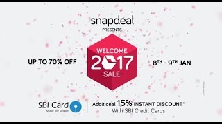 snapdeal welcome 2017 sale