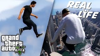 GTA 5 VS REAL LIFE 5 ! (fun, fail, stunt, ...)