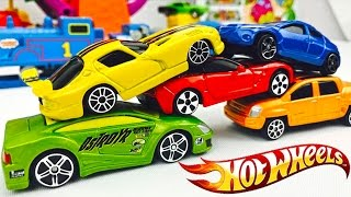 Carros Hot Wheels para Niños - Colores Primarios - Carros de Aventuras -