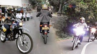 Menteri Susi Pinjam dan Kendarai Sendiri Motor Trail Milik Polisi
