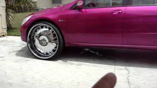 """CANDY""""PINK PUSSY"""" BENZ R63 ON 30"""" FORGIATOS"""