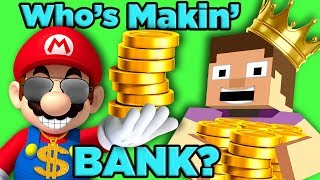 Mario vs Minecraft! Who is Gaming's RICHEST? | The SCIENCE of... Video Game Millionaires