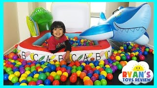 Giant Ball Pit Surprise Toys Challenge with Disney Cars Toys