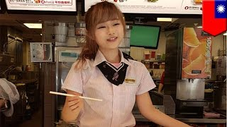Cute McDonald's employee: Taiwanese men line up to see kawaii, doll-like beauty - TomoNews