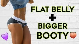 ❤️ How To Get A Flat Stomach and Bigger Butt🍑 | 4 Workouts To Flatten Your Belly & Grow Bigger Butt