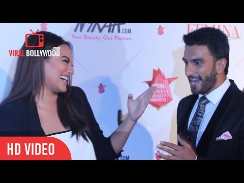 Ranveer Singh Goes Crazy with Sonakshi Sinha | Nykaa Femina beauty Award | Viralbollywood