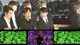 161226 BTS Reaction to Lovelyz Destiny / SBS Gayo Daejun Fancam