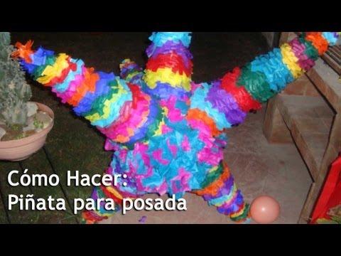 Cómo Hacer Piñata de estrella para POSADA
