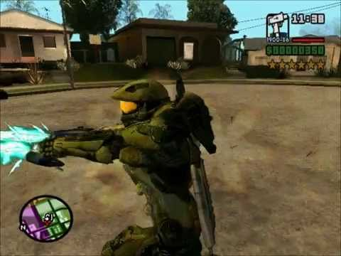 Master Chief Army VS Police / GTA SA (Mod HALO)