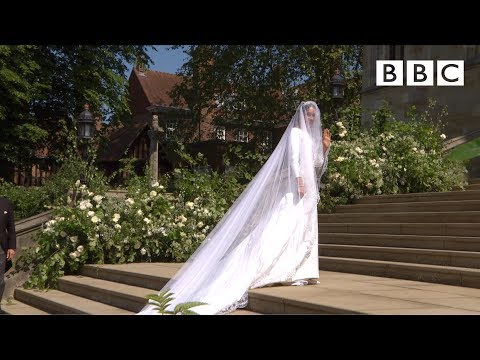 Beautiful Meghan Markle arrives in exquisite wedding dress The Royal Wedding BBC