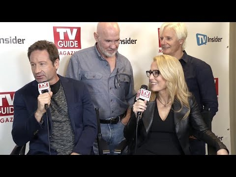 Gillian Anderson & David Duchovny from The X-Files interviews at NYC Comic Con 2017