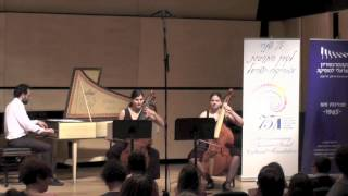 Sonia Navot plays G. P Telemann Viola Da Gamba Sonata in E minor