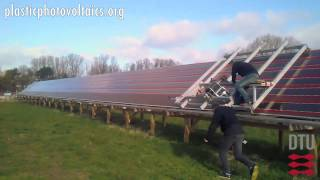 Installation of flexible organic solar cells