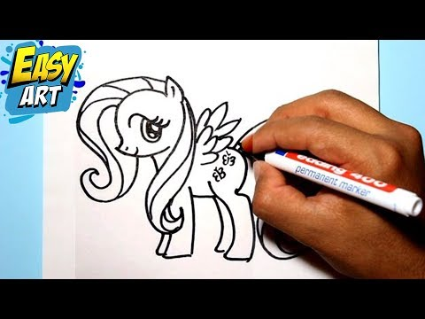 Como dibujar a fluttershy / My little pony / How to draw my little ...