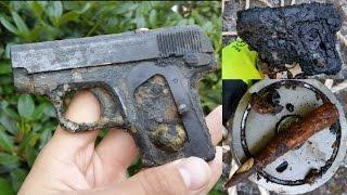Magnet Fishing WW2 - World War 2 Pistol found!!!