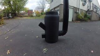 Diy gas bottle rocket stove ( build and burn )