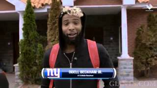 Odell Beckham Jr.as he arrives for the first start of the Offseason Training WorkOut