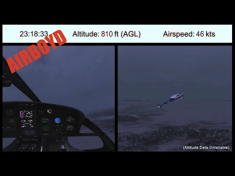 Alaska Public Safety Helicopter Accident NTSB Animation