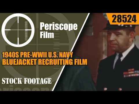 watch 1940s PRE-WWII U.S. NAVY BLUEJACKET RECRUITING FILM
