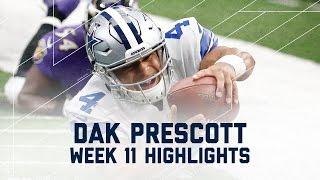 Dak Prescott Throws for 301 Yards and 3 TDs! (Week 11 Highlights) | Ravens vs. Cowboys | NFL