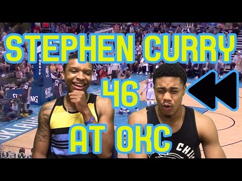 HALF COURT GAME WINNER OMFG STEPH CURRY 12 THREES AT OKC FULL HIGHLIGHTS AND REACTION FLASHBACK