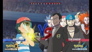 Pokemon Battle USUM: Ash Vs Team Rainbow Rocket