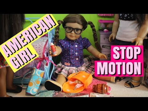 American Girl Stop Motion The Crazy Cousins Come Over Part 1
