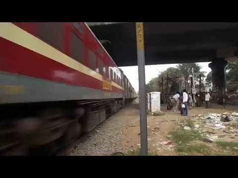 Xxx Mp4 Indian Railway High Speed Skipping Action Of 12246 Yesvantpur Howrah Durnato WAP 4 SRC 22373 3gp Sex