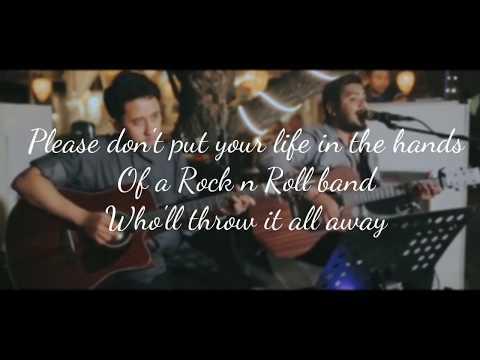 Lyrics Don't Look Back In Anger - Oasis ( Ahmad Abdul & Dennis Svara Acoustic Cover )
