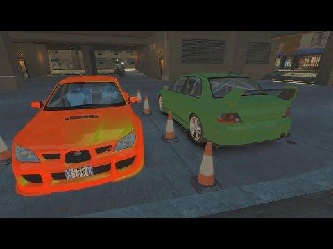 GTA 4 AMAZING Drifting Gymkhana 5 Evo V s Subaru