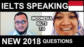 ✔ NEW IELTS 🇮🇩 Speaking Band 7.0 Test Samples INDONESIA NEW 2018 with SYED 8