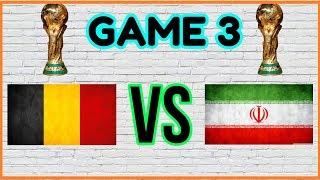 PES 2018 - FIFA WORLD CUP (WITH BELGIUM) - GAME 3 - BELGIUM VS IRAN