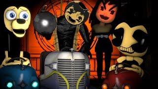 Bendy And The Ink Machine Bumper Car Madness Episode 3 Boris Vs Bendy Vs Neighbor BumperAdventure