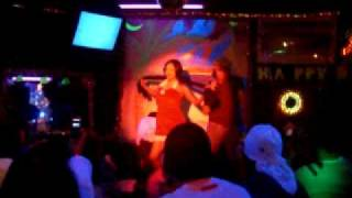 Gwen Garci  Dancing in a little pub in Japan