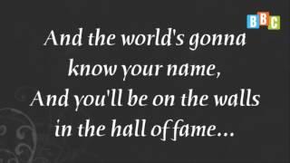 Học tiếng Anh qua bài Hát- Hall of Fame, The Scripts