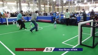 Nao-Team HTWK vs. DAInamite - Robocup Iran Open 2016