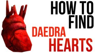 Skyrim: 5 Daedra Heart Locations! (No Bug/Glitch Abusing)