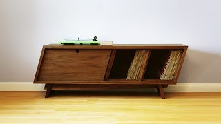 Build a Mid Century Modern Record Player Cabinet - Woodworking