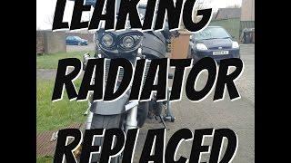 CBR900RR Leaking Radiator Replaced