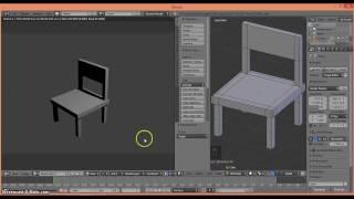 Membuat objek kursi dengan 3D blender untuk pemula