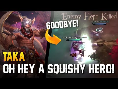 Vainglory - Road to Vainglorious [Gold]: OH HEY A SQUISHY HERO! Taka |CP| Jungle Gameplay