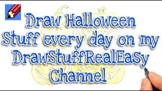 Lots of Halloween drawing videos on my other channel