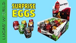 12 Angry Birds MOVIE Chocolate Surprise Eggs with Angry Birds Mystery Figures