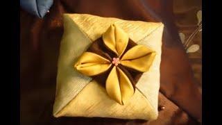 خياطة غطاءمخدة مربعة بطريقة سهلة How To Sew A Pin Cushion