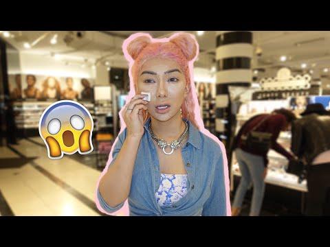 FULL FACE Using Sephora Tester Makeup Nikita Dragun